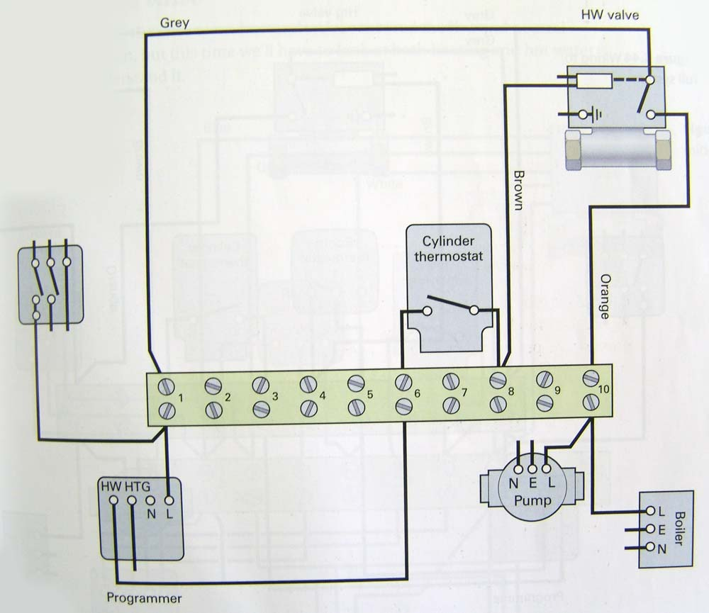 Electrical Installation Two Way Switch Wiring Schematic Diagram Hot Water Only Port Motorised Valve